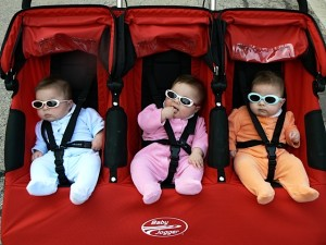 Grandparents of Triplets -- with sunglasses #2