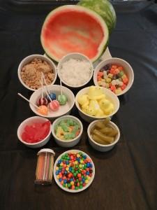 watermelon diorama tools