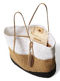 Top 10 Beach Bag Essentials for Summer 2015 (WOVEN TOTE) #1