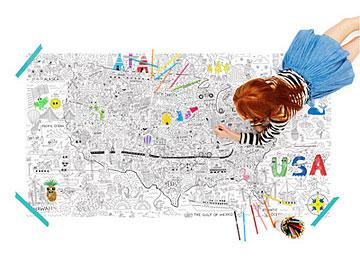 USA Jumbo Coloring Poster