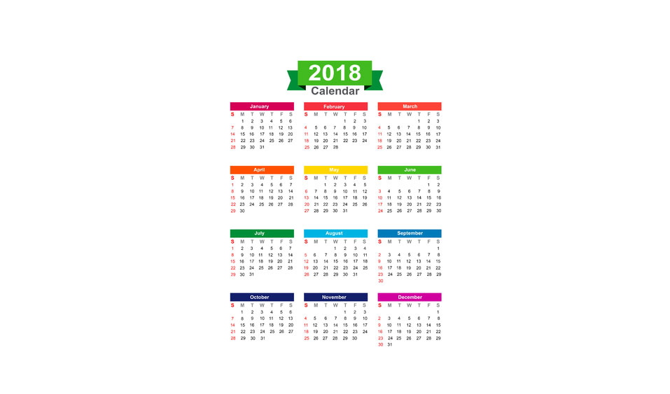 2018 Fun Holiday Dates to Enjoy
