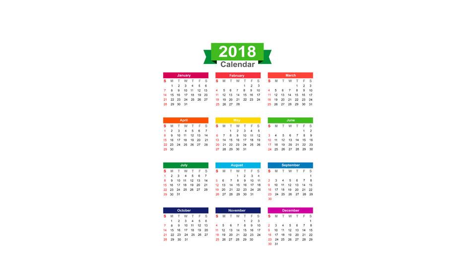 2018 Fun Holiday Days to Enjoy