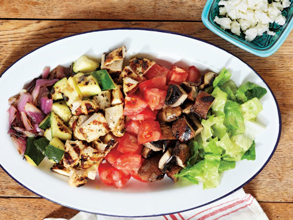 Grilled Chicken and Vegetable Chopped Salad