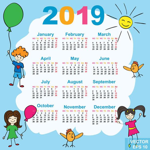 2019 Fun (Yummy) Dates to Remember