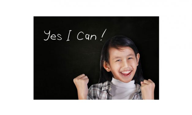 "The most important three words you can say to yourself: ""Yes I can."""