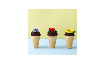 Flower Pot Cupcake Cones