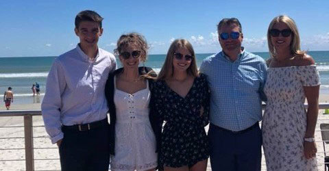 Looie's son, Brandon (2nd from right) and his beautiful family