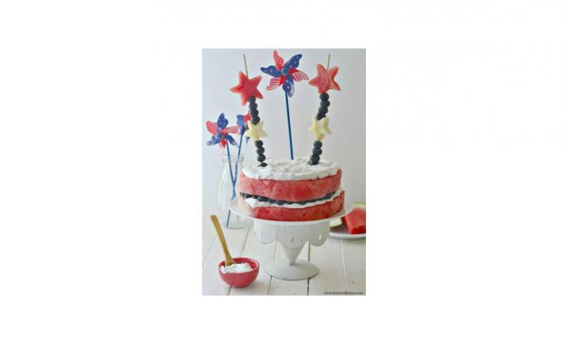The Perfect July 4th Watermelon Cake!