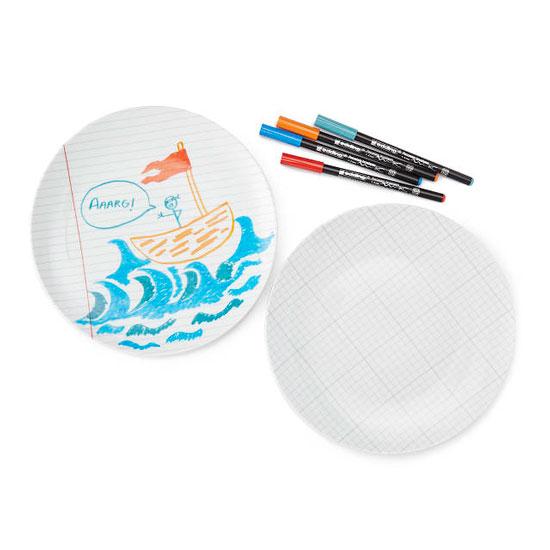 DIY Doodle Plates - Set of 2
