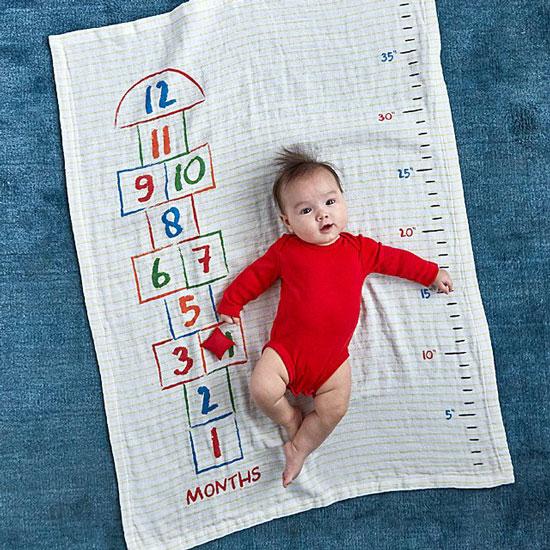 Hopscotch Milestone Swaddle Blanket