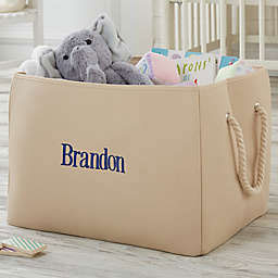 Personalized Embroidered Storage Tote