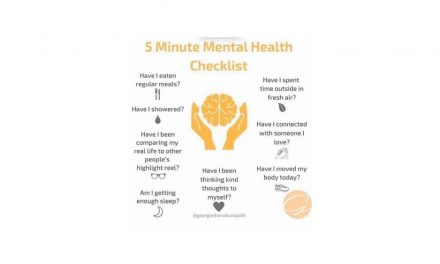 5 Minute Mental Health Check list