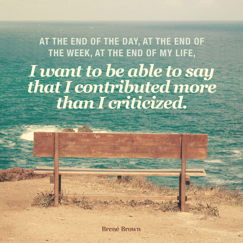 Brene' Brown At The End of The Day