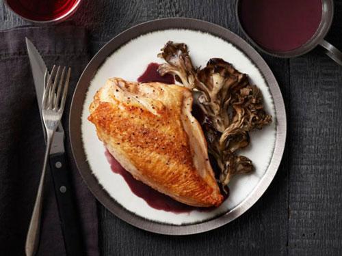 Roast Chicken and Mushrooms