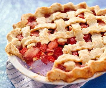 Sour Cherry- Apple Pie