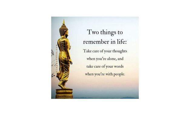 Two things to remember in life: