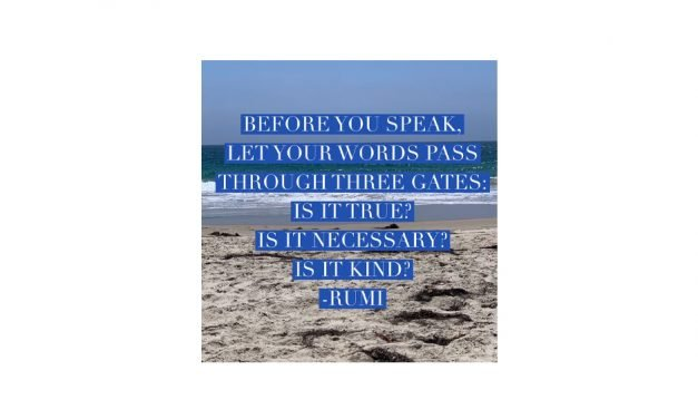 Before you speak, let your words pass through three gates:
